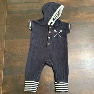 City Mouse Black and White Romper